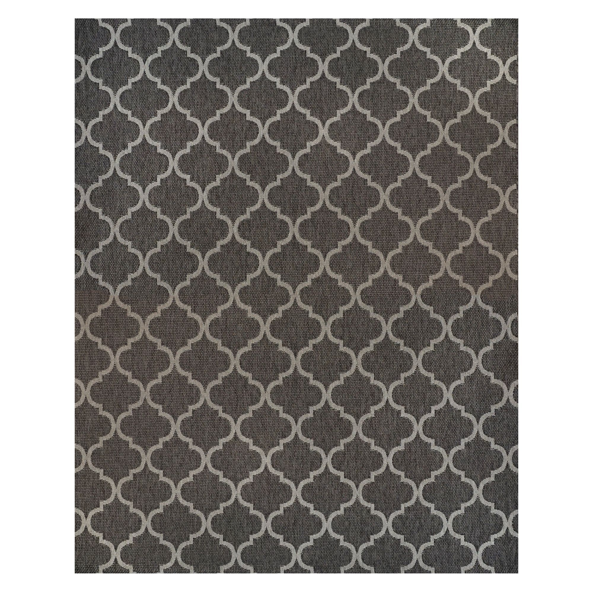 Studio by brown jordan hastings gray polypropylene area rug 710 x 10 machine woven hastings 710 x 10 beige size 8 x 10
