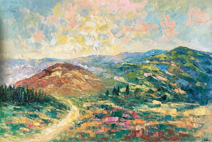 Canvas Art Painting Autumn Tree Landscape Painting Large Wall Art Oil Painting Art On Canvas Original Artwork Landscape Paintings Large Wall Art Painting