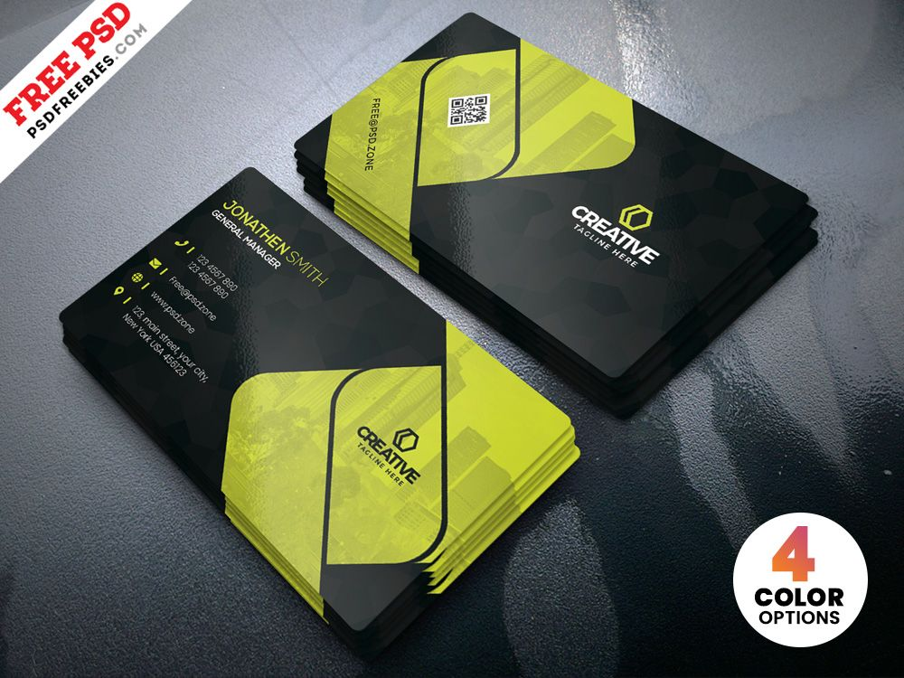 Creative Business Cards Design PSD Template