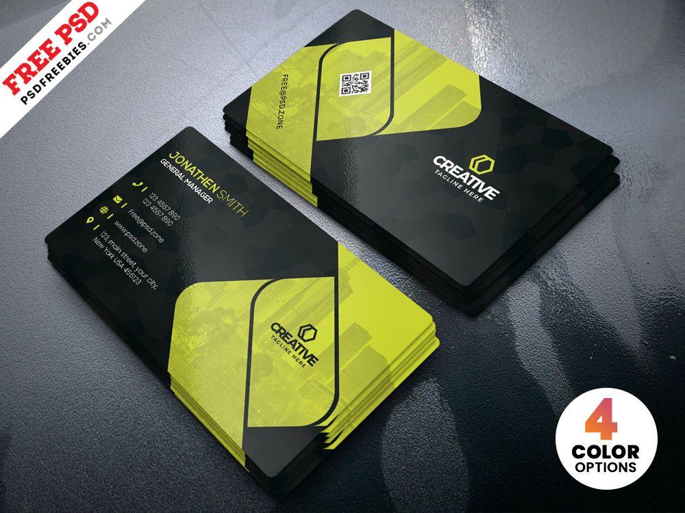 Creative business cards design psd template business