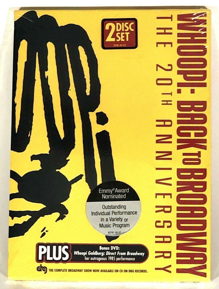 Whoopi Goldberg 20th Anniversary Back To Broadway 2 Disc Set New