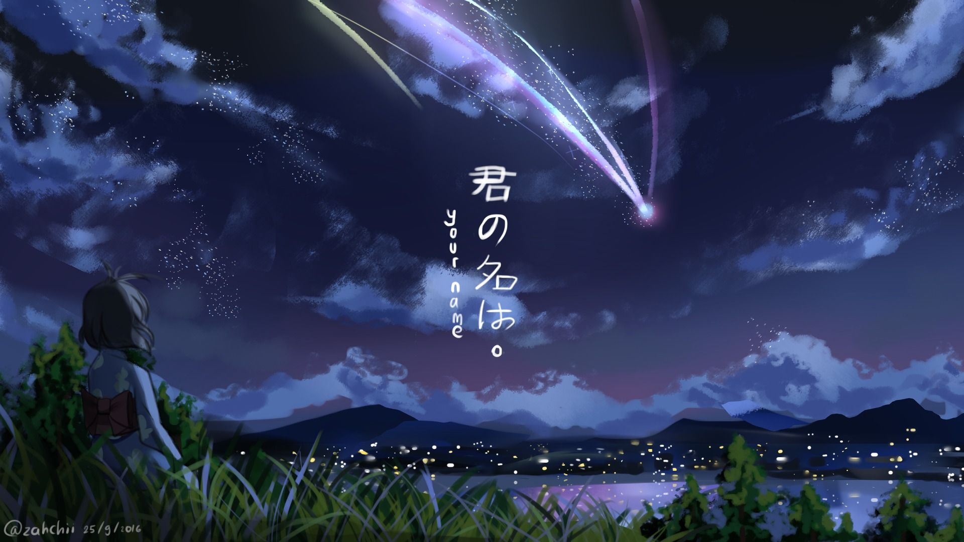 Wallpapers Anime Your Name 1920x1080 Pemandangan Anime Pemandangan Gambar