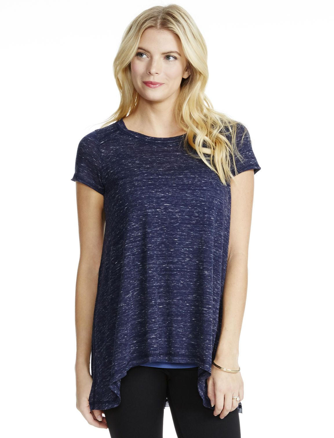 12a64acfd2e56 The best nursing top you'll own | Short sleeve side access super soft nursing  top by Jessica Simpson available at Motherhood Maternity