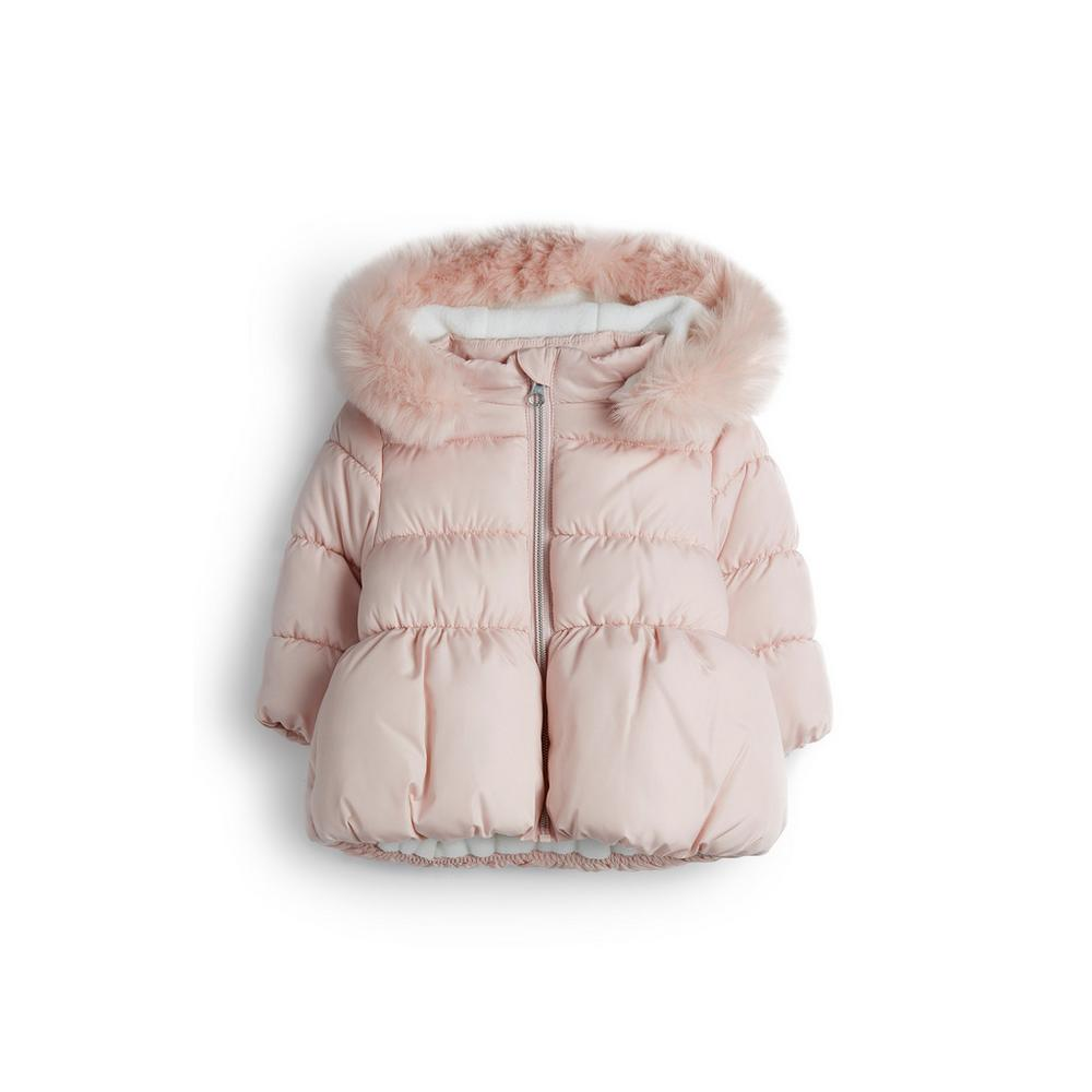 Baby Girl Pink Puffer Jacket With Faux Fur Trim Baby Girl Shirts Jackets Baby Girl Baby Kids C Pink Puffer Jacket Baby Girl Shirts Shirts For Girls [ 1000 x 1000 Pixel ]