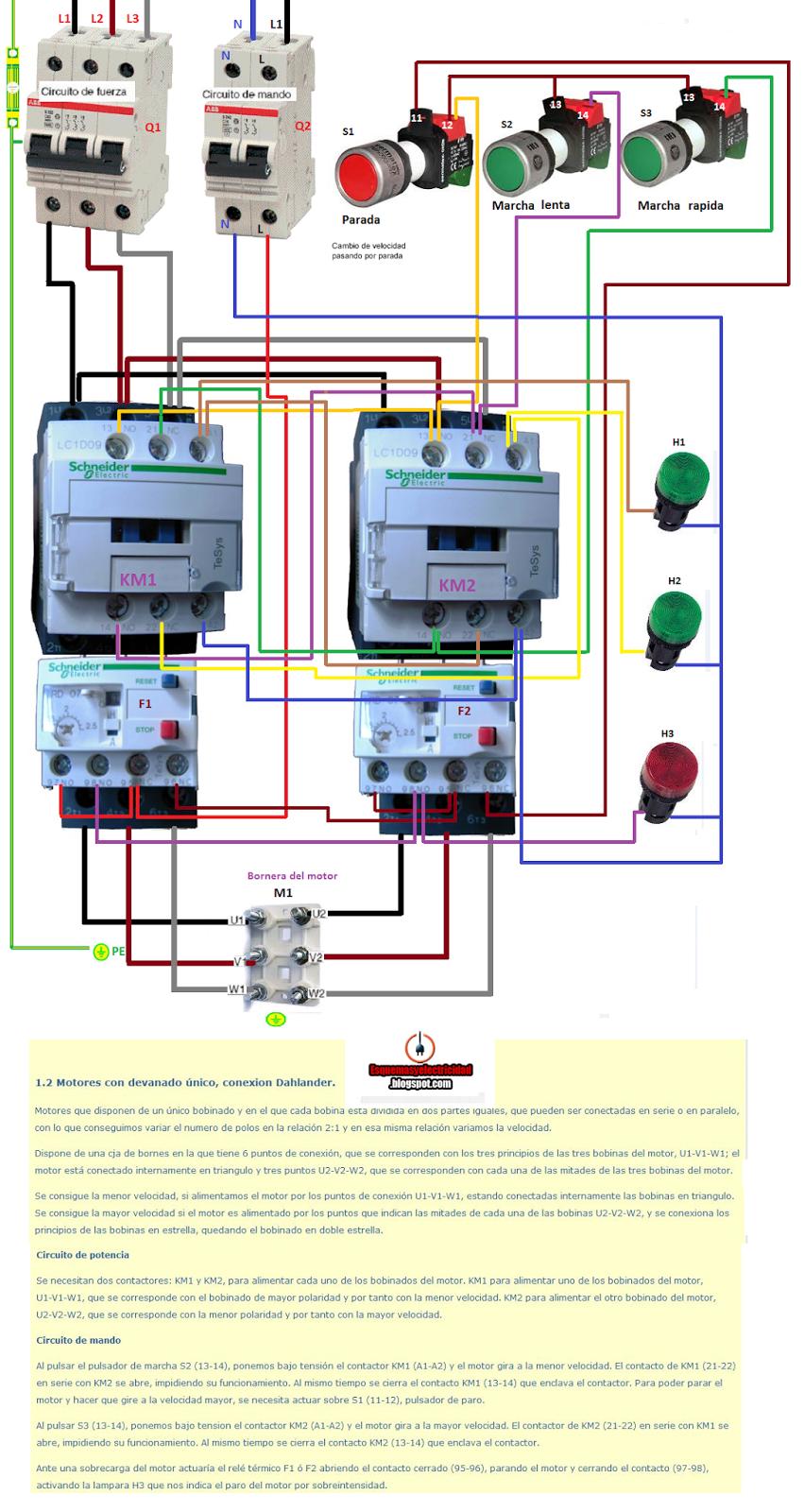 Outstanding Esquemas Electricos Motor Con Devanado Unico Conexion Dahlander Wiring Digital Resources Ntnesshebarightsorg