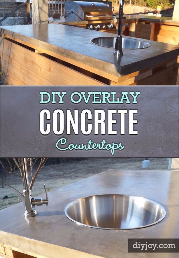 Superior Easy Kitchen Counter Makeover Part - 7: DIY Kitchen Makeover Ideas - DIY Overlay Concrete Countertops - Cheap  Projects Projects You Can Make