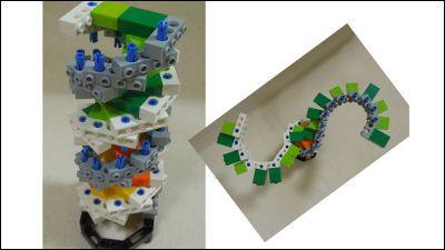 レゴブロックでらせん構造などを科学的に忠実に再現したDNA模型 - GIGAZINE
