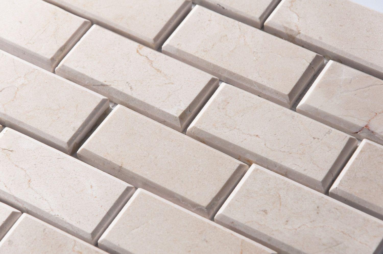 Crema Marfil Beige Stone Subway Tile 2x4