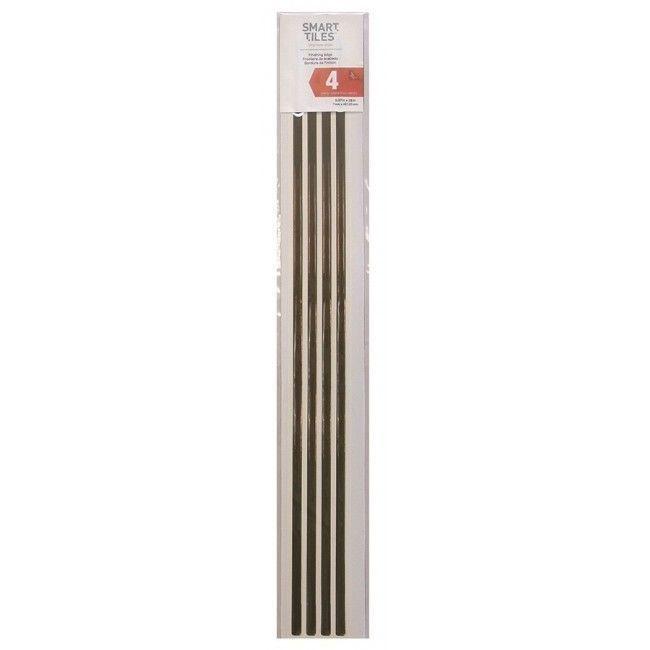 Peel And Stick Decorative Wall Tile Trim Smart Tiles Se10774 Ambra Finishing Edge Peel N Stick 4 Units