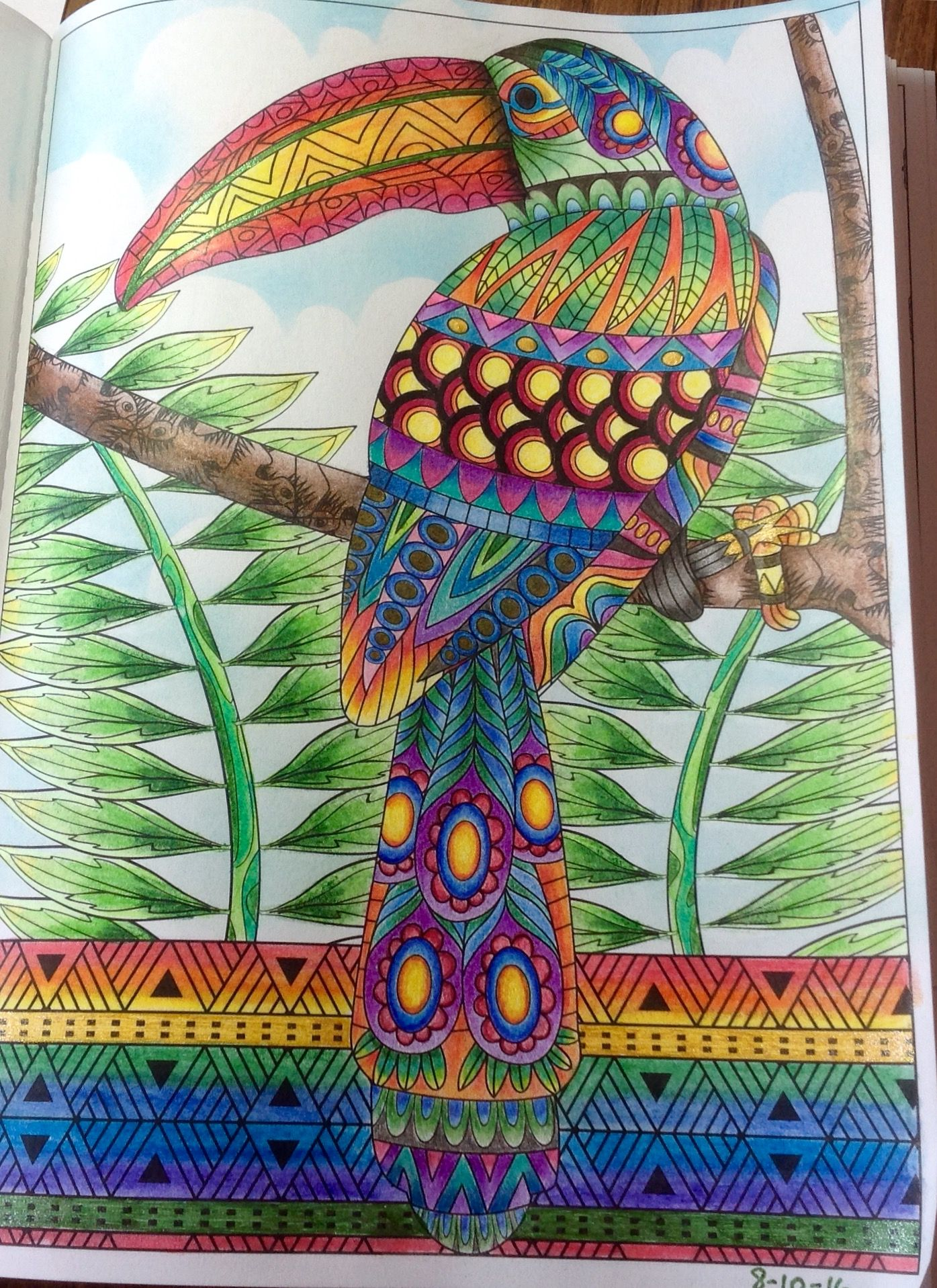 Creatures of beauty adult coloring book