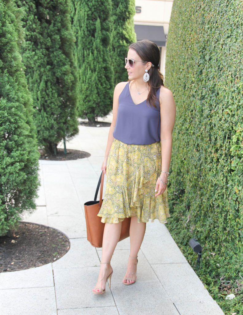 Yellow Ruffle Skirt for the Office | Summer work outfits, Summer ...