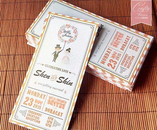 Orange themed cartoon wedding invitation card printing boracay orange themed cartoon wedding invitation card printing boracay phillipines malaysia kuala lumpur kad kahwin stopboris Gallery