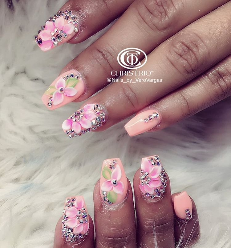 Pin by Connie Hernandez on new nail styles | Pinterest | Bling nail ...