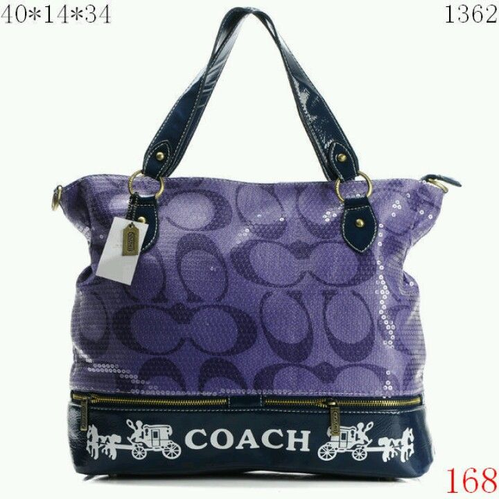 Hobo coach two toned purple