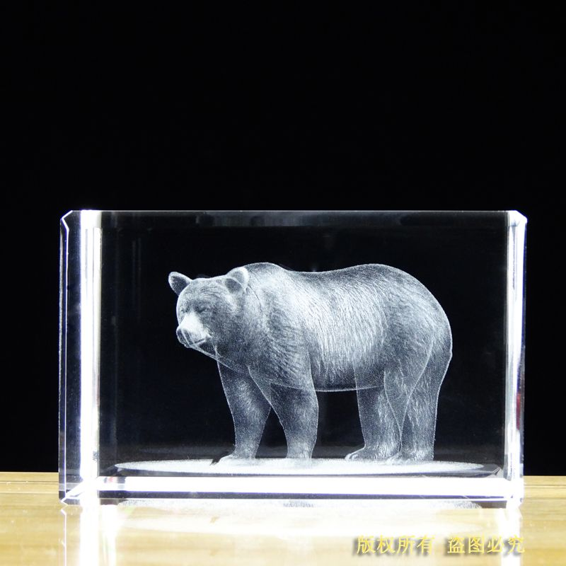 Free shipping!! 50*50*80mm Engraved Crystal Paperweight, K9 Crystal