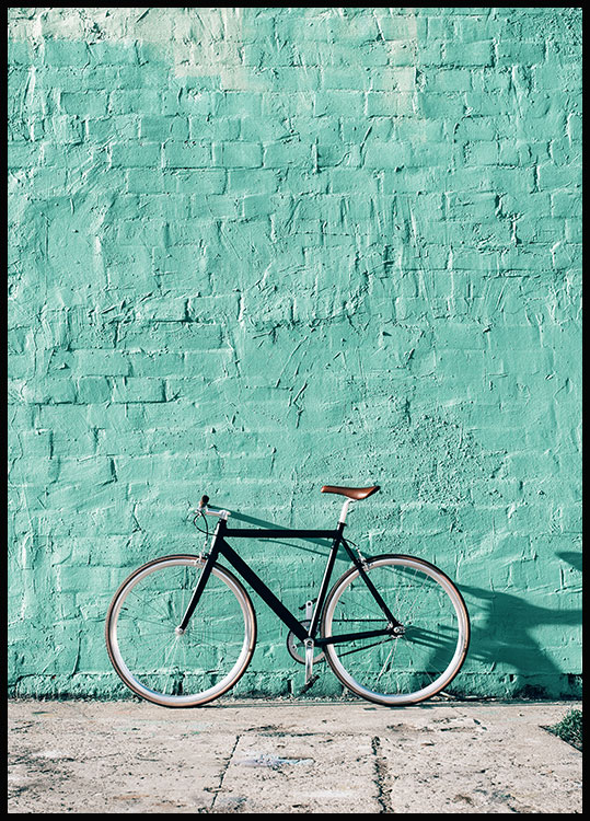 Mint Wall Bike Plakat I 2020 Billedvaegge Plakater Moderne Plakat