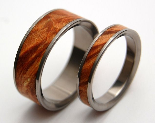 Wood Wedding Bands by MINTER RICHTER on Etsy Rings Pinterest