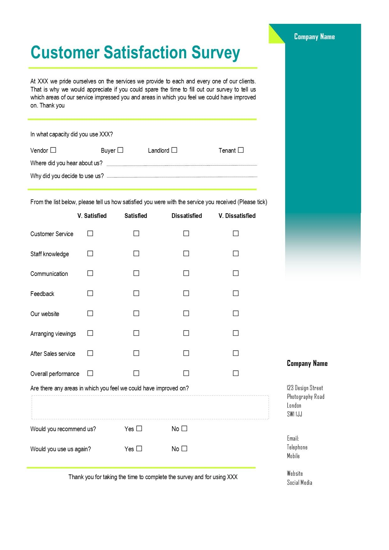 Customer Satisfaction Survey A Virtual Assistant Can Create Forms For Clients To Send To