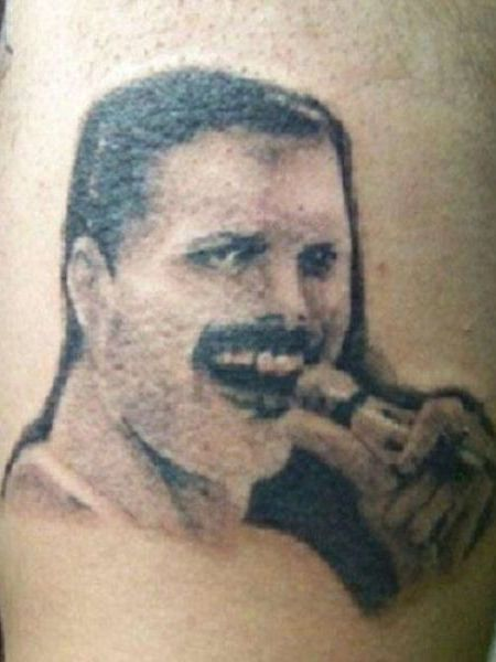15 hilariously terrible tattoos of celebrity faces worst for Face tattoos gone wrong