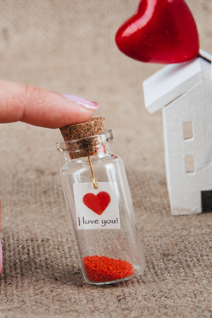 I Love You Message In A Bottle Gift For Boyfriend Romantic