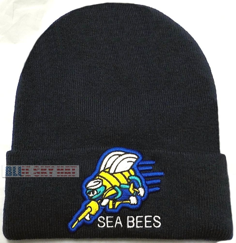 6f8ccecb630 Us navy usn naval seabees can do construction battalion cb beanie ...
