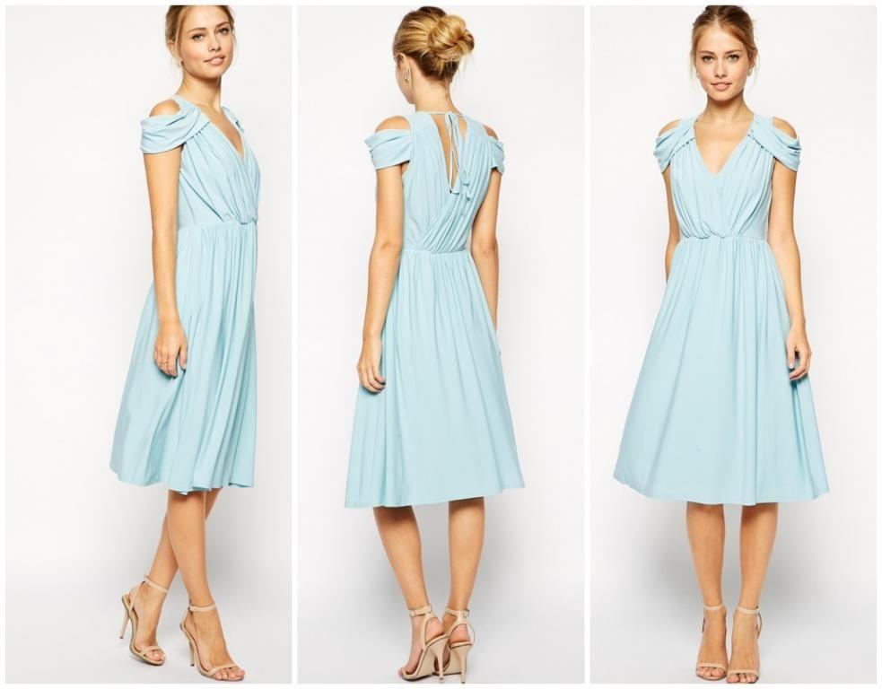 W5431 Asos Sukienka Wrap Front Midi Blue 38 5270066394 Oficjalne Archiwum Allegro Wrap Front Dresses Asos