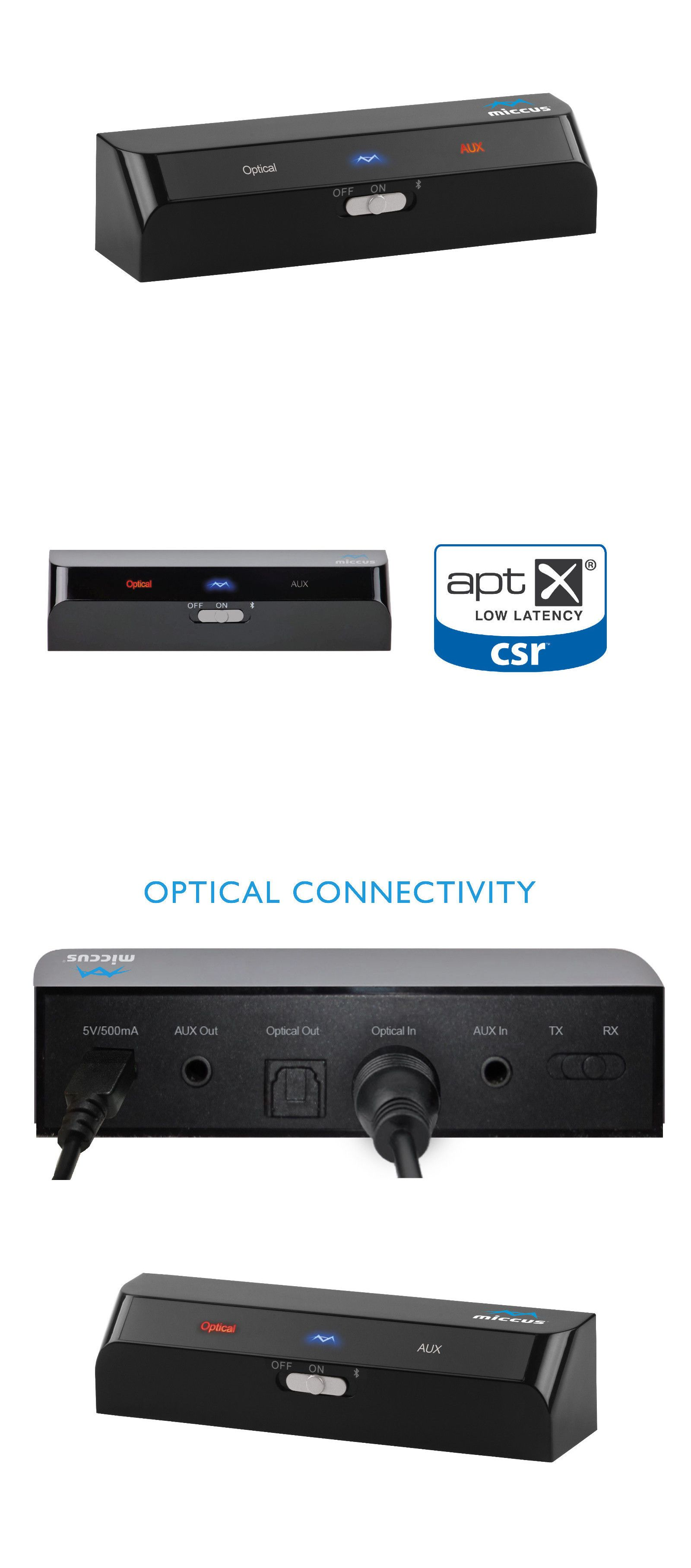 Cables and Adapters: Miccus Home Rtx Mini: Bluetooth Transmitter ...