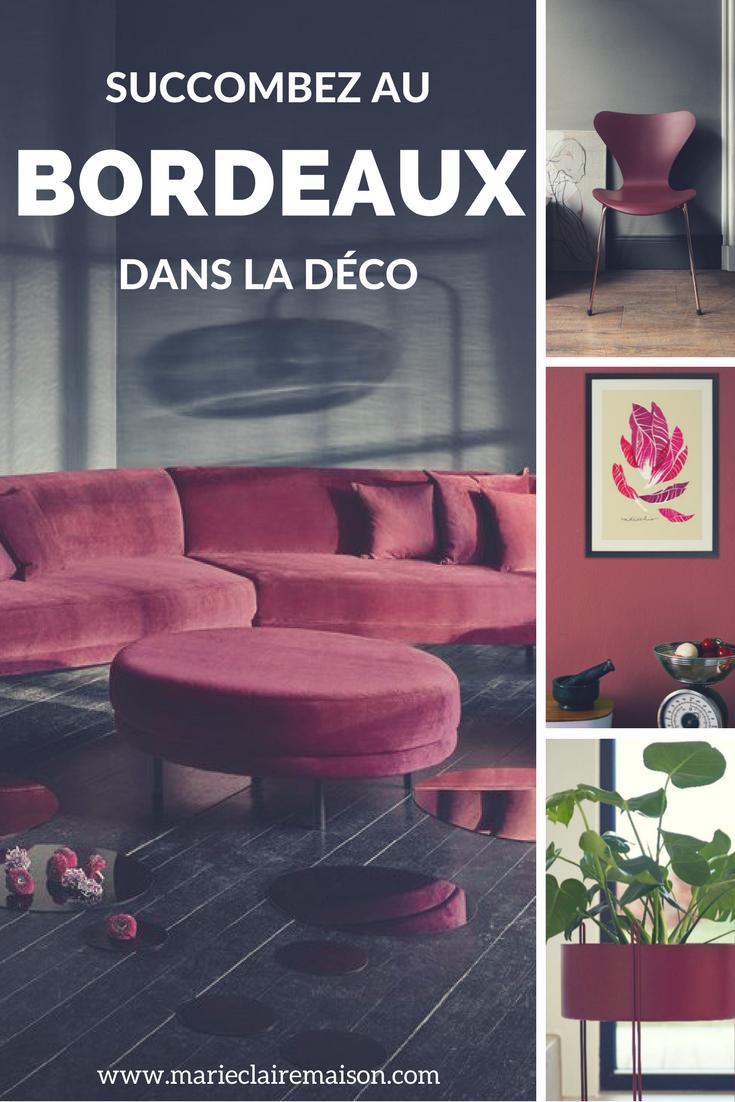 Succombez Au Bordeaux Dans Votre Deco Canape Bordeaux Deco Decoration