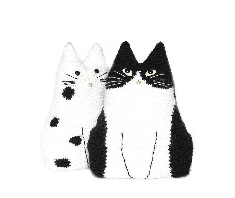 Cute crochet toy pillows set cat pals crochet cushions cute crochet toy pillows set cat pals crochet cushions pillows black bankloansurffo Choice Image