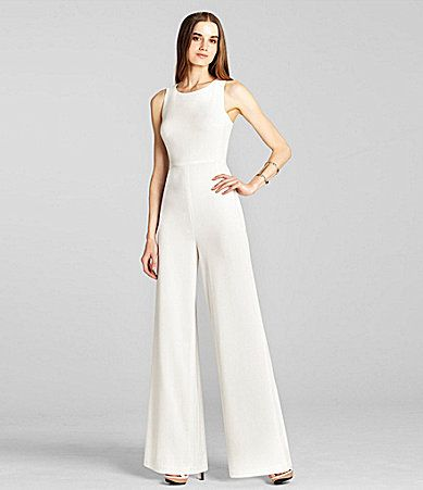 BCBGMAXAZRIA Helena Sleeveless Jumpsuit #Dillards | WHITE ...