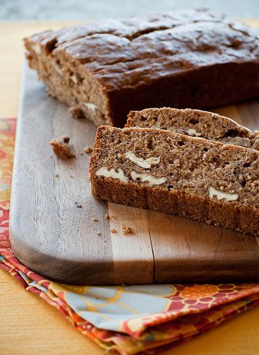 spelt flour banana bread...this is a great recipe and vegan!