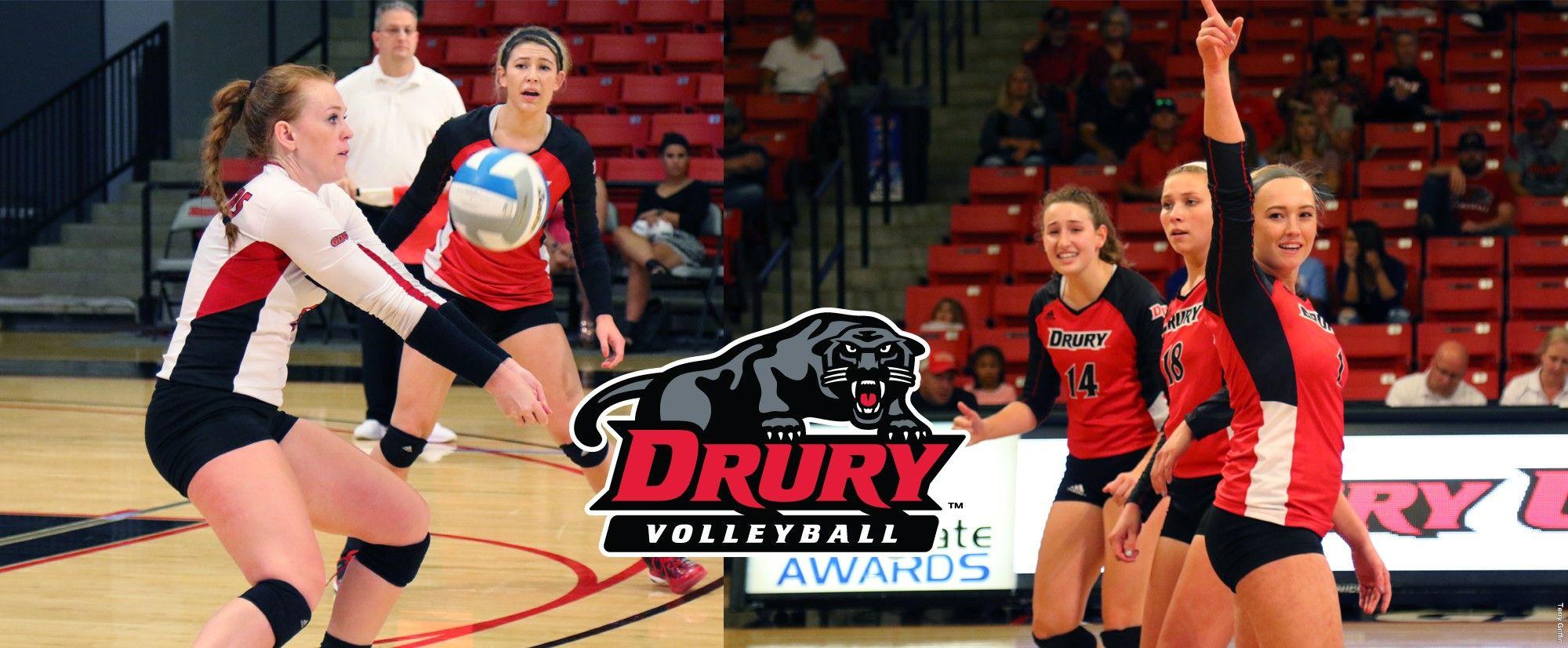 Bentley Mara Bree Schmidt Win Glvc Weekly Volleyball Awards Athlete Volleyball Drury University