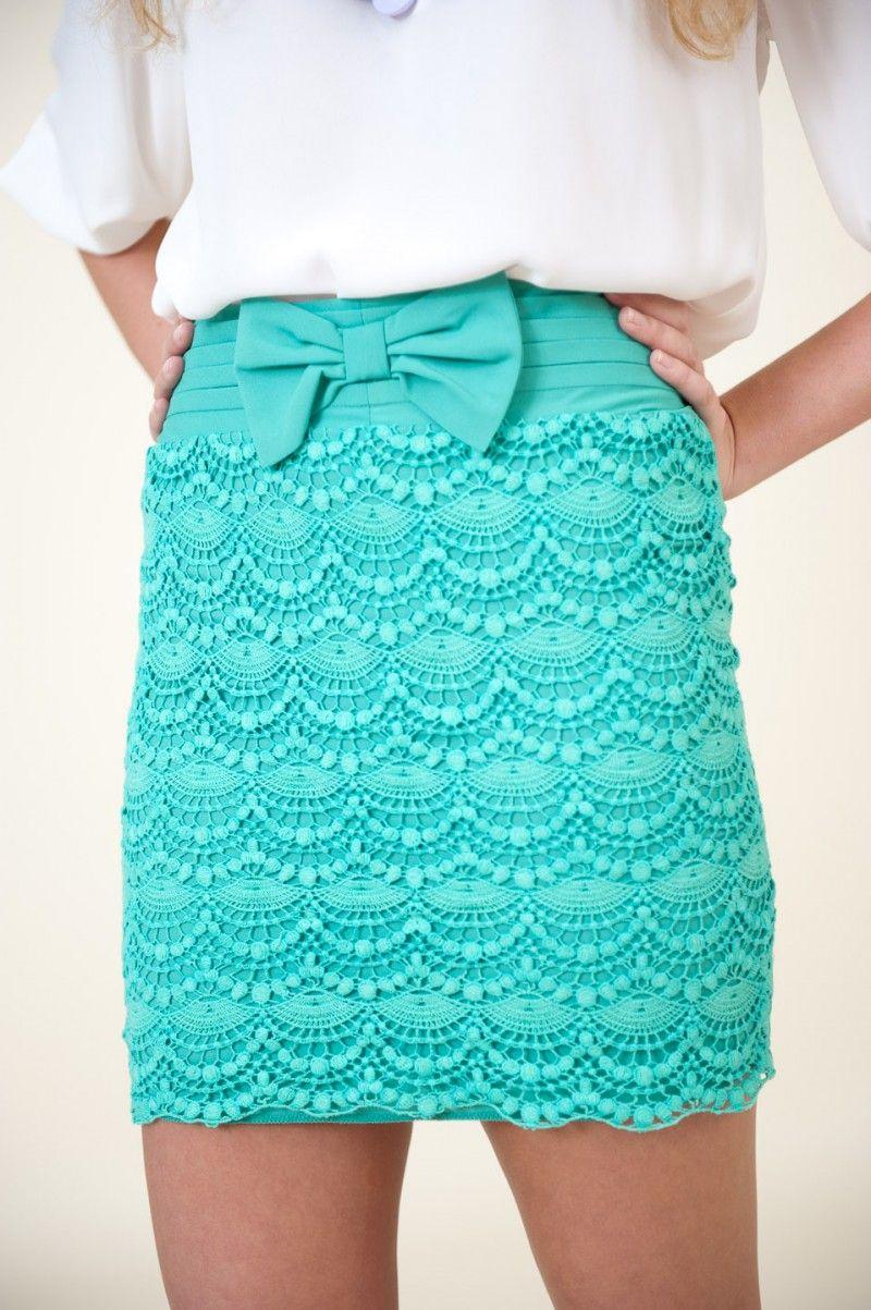 8062869f820c44 RESTOCK: Breathtaking It Easy Skirt-Mint $44.00 | Style | Fashion ...