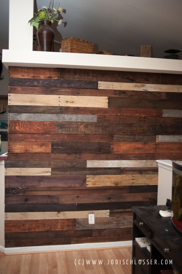 Pallet Wall Diy Doing This In Bedroom On Wall Behind Bed