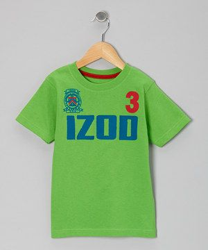 Love this IZOD Neon Green 'IZOD' Tee - Boys by IZOD on #zulily! #zulilyfinds