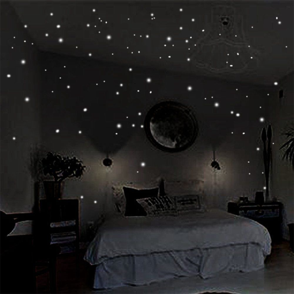 Glow In The Dark Stars Wall Stickers Decor For Kids Bedroom Or