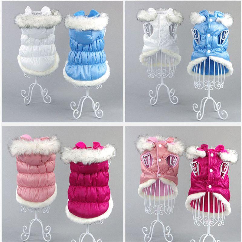 Dog's Cute Winter Warm Jackets Puppy clothes, Puppy