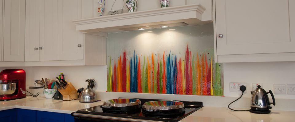 Fused Glass Art Glass Splashbacks Bespoke Coloured The House Of Ugly Fish