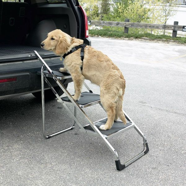 Folding Dog Steps For Cars Made Of Steel And Pvc Rubber