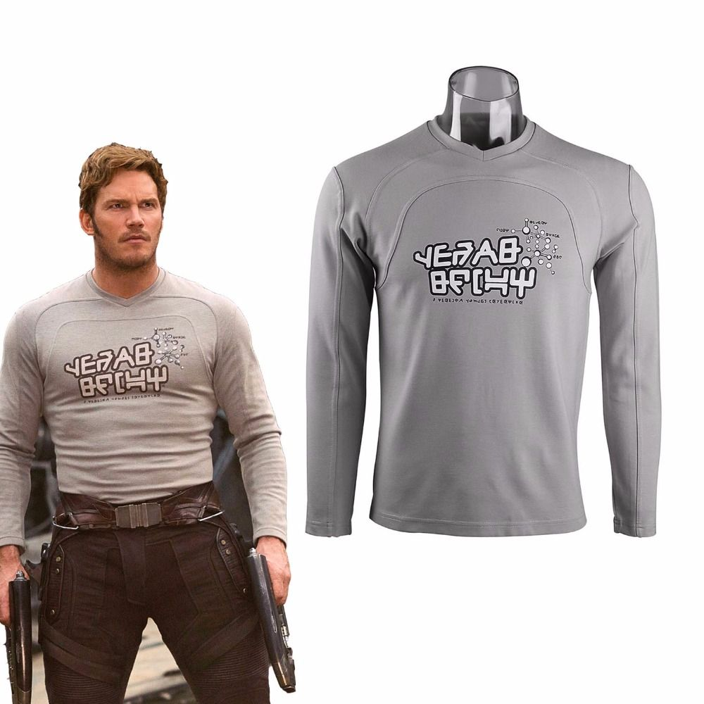Cosplay Guardians of the Galaxy 2 Costume Starlord Shirt Peter Jason Quill Shirt