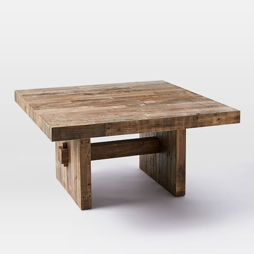 Emmerson Reclaimed Wood Square Dining Table Sq Furniture - Reclaimed hardwood dining table