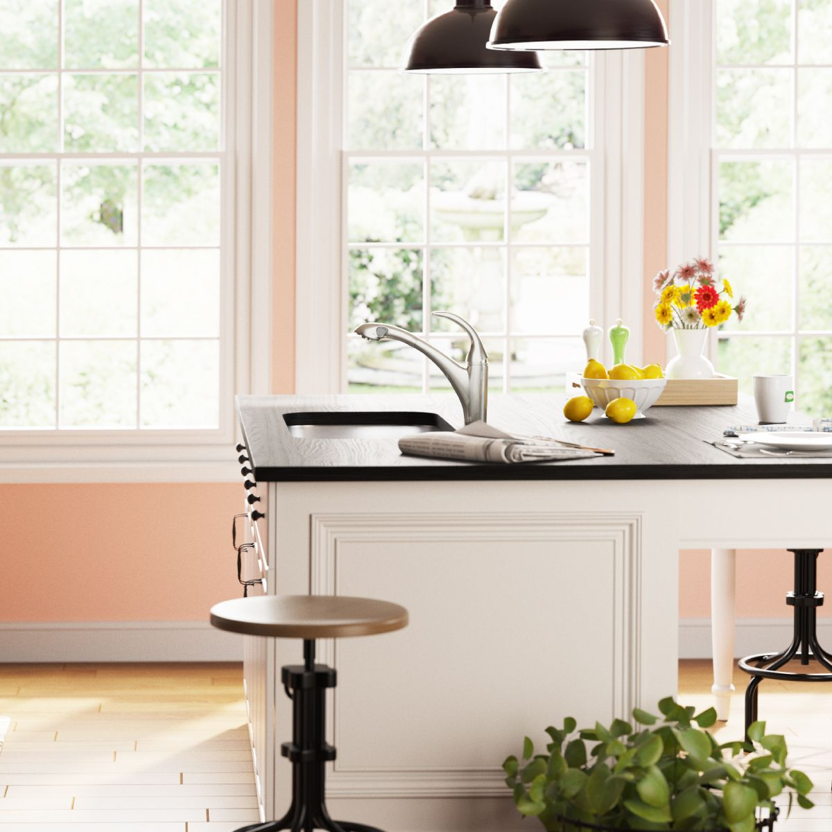 Filled with natural light, this kitchen is the
