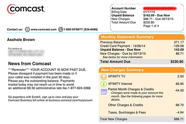 Comcast Apologizes For Changing Customer S Billing Name To Profanity Internet Providers Comcast Online Reputation Management