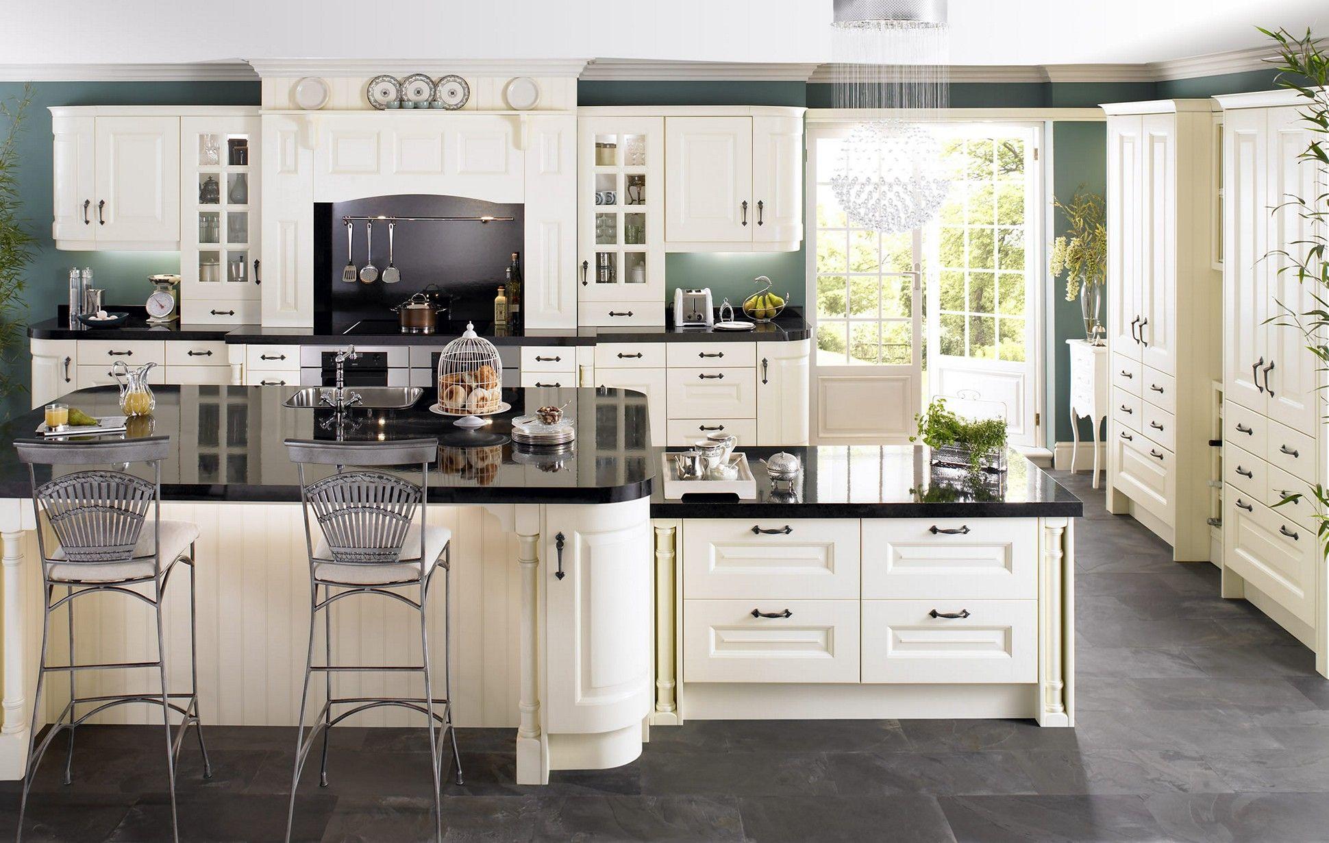 Cream Kitchen Cabinets With Dark Countertops Kitchen Island Cream Kitchen Cabinet Design Country White Kitchen Country Style Kitchen