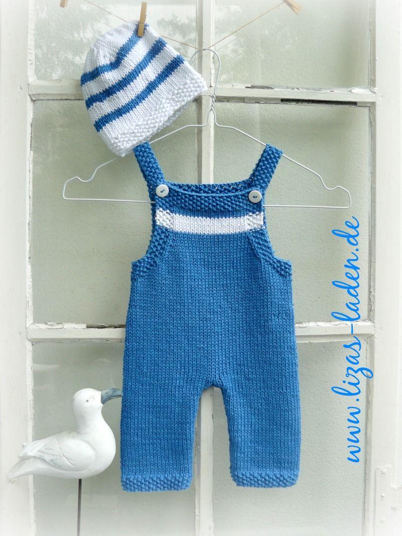 baby latzhose und m tzchen aus lana grossa organico handgestrickte babykleidung baby. Black Bedroom Furniture Sets. Home Design Ideas