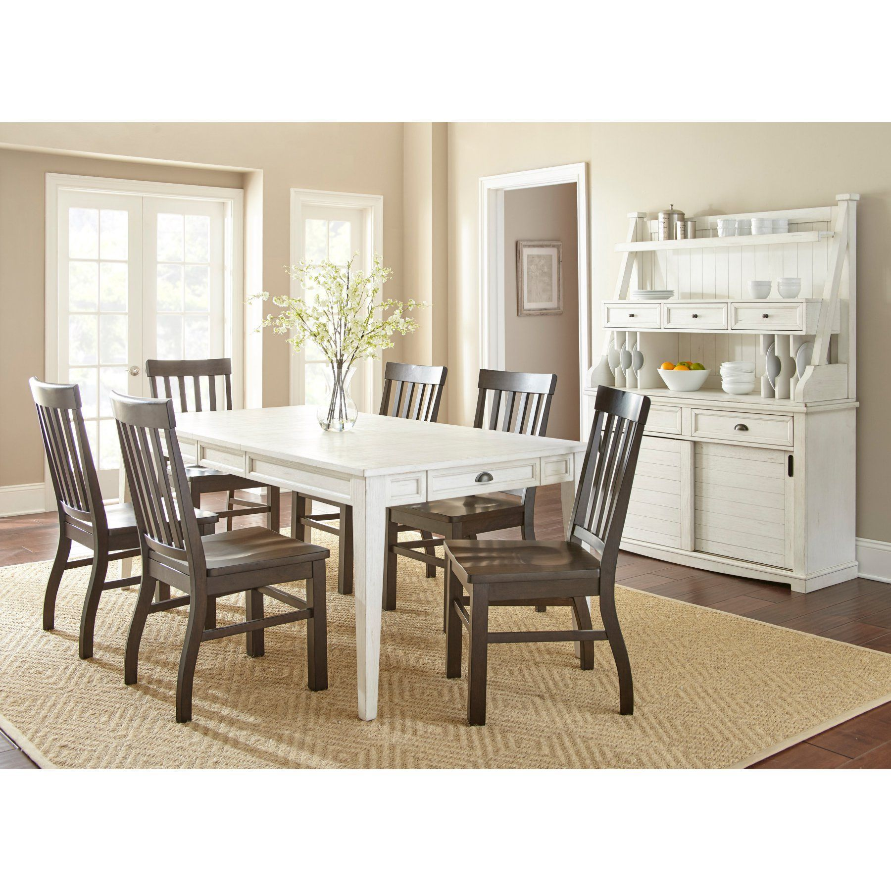 Steve Silver Co Cayla White Dining Table CY400TW