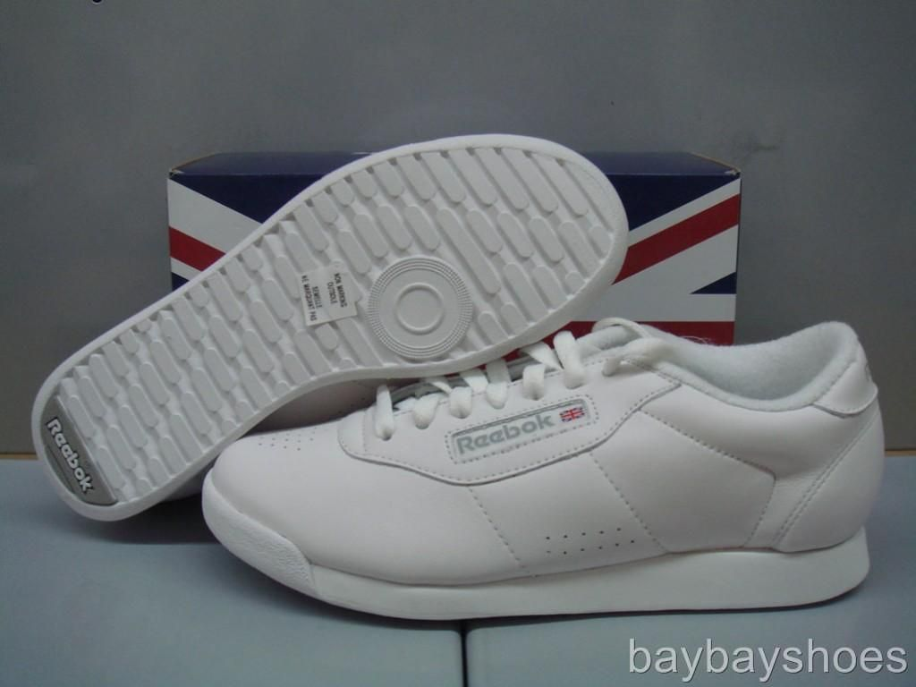 643cf204aed Reebok Princess Wide Width D Triple White Classic Walking Casual Us Womens  Sizes