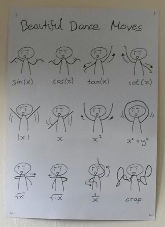 Learn your Math functions by dancing... | Funny | Math ...