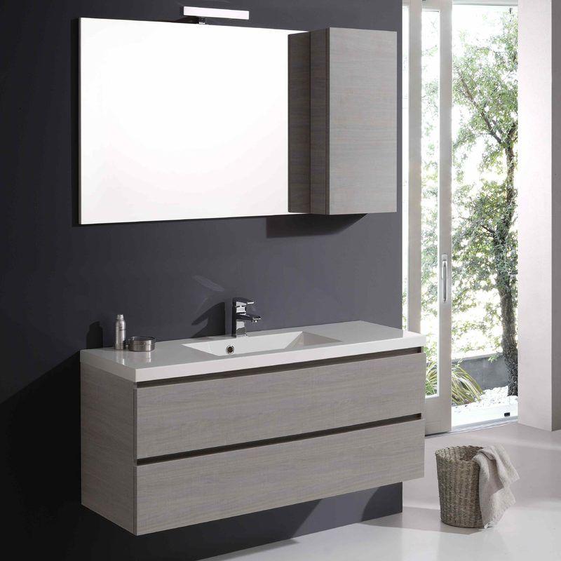 Bad möbel manhattan 120 cm mit schubladen und spiegel mit