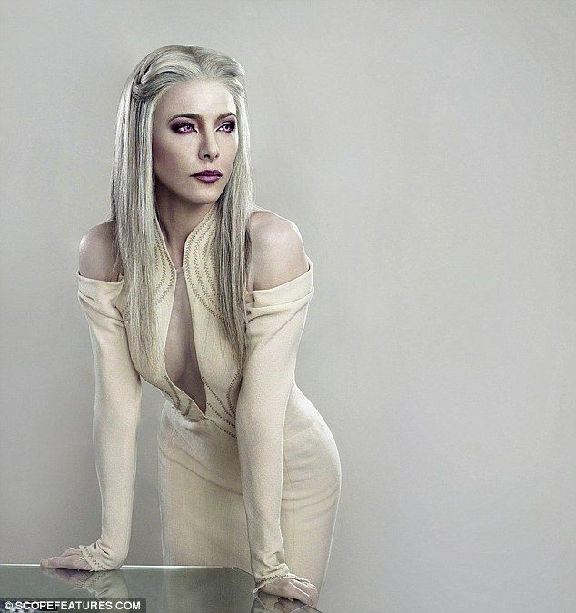 Im much prettier as an alien: Ex-Hustle star Jaime Murray on what its like playing an extraterrestrial seductress – while slathered in white paint